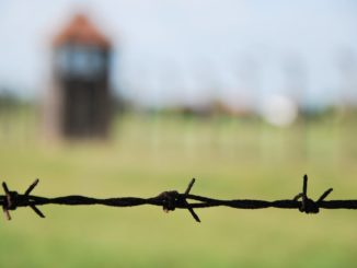 Poland, Birkenau – barbed wire, May 2009