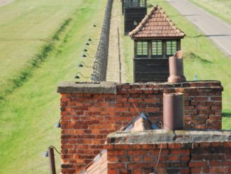 Poland, Birkenau – lookout, May 2009