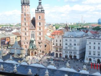 Poland, Krakow – view with church, May 2009