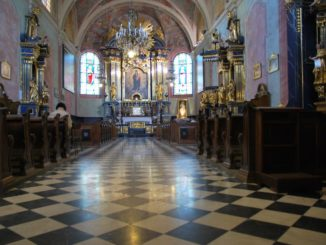 Poland, Krakow – inside a church 1, May 2009
