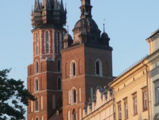 Poland, Krakow – church in evening sun, May 2009