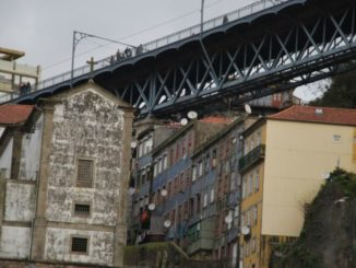 Portugal, Oporto – houses under bridge,  2009