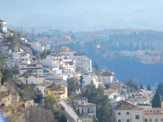 Nice view with snow mountain in Granada