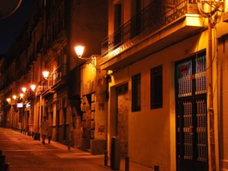 Spain, Madrid – side street, July 2012