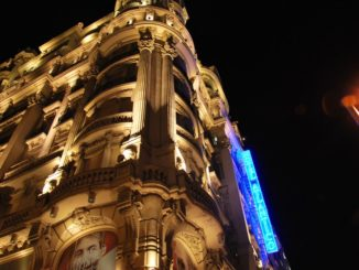 Spain, Madrid – hotel building, July 2012