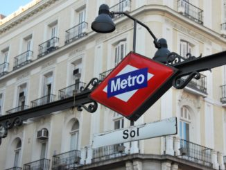Spain, Madrid – Metro sign, July 2012