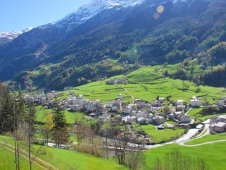 Switzerland, Bernina Express – small town, May 2012