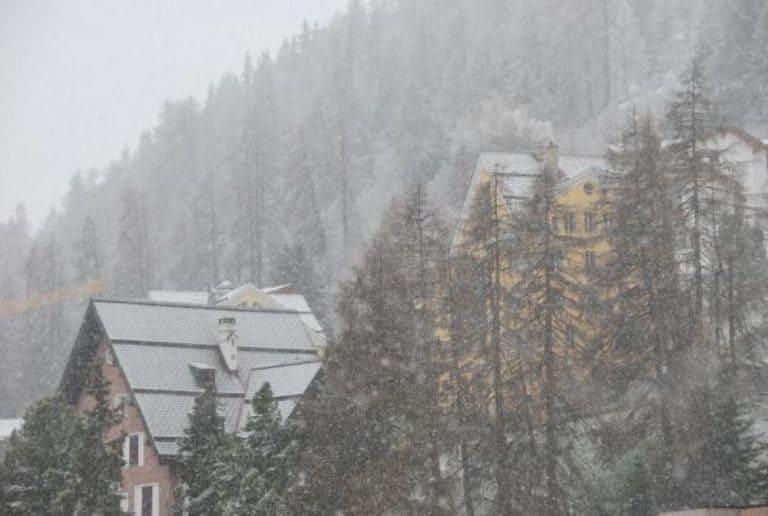 Snow! In St Moritz.