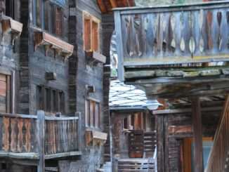 Switzerland, Zermatt – balconies, May 2012