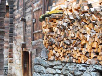 Switzerland, Zermatt – firewood, May 2012