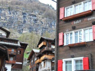 Switzerland, Zermatt – row of houses, May 2012