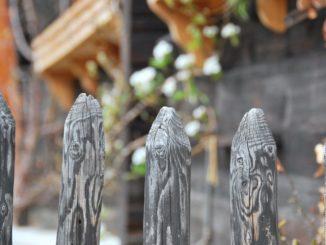 Switzerland, Zermatt – wooden fence, May 2012
