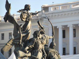 Ukraine, Kiev – statue, 2011