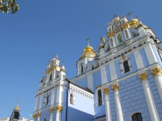 Ukraine, Kiev – blue church, 2011