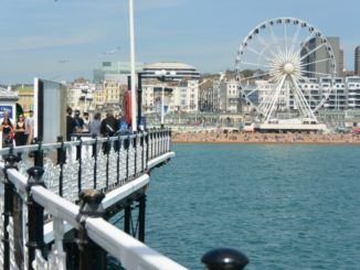 beach – pier and Ferris wheel, May 2016