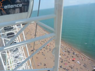 from the Ferris wheel – beach, May 2016