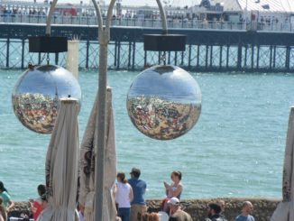 beach – mirror balls, May 2016