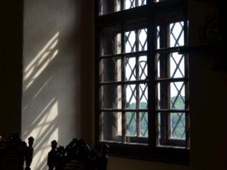 Cerveny Kamen Castle – through the window, May2016