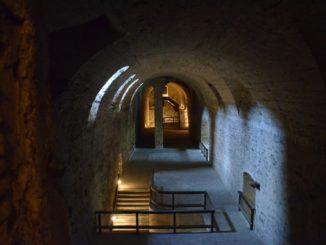 Cerveny Kamen Castle – storage structure, May2016