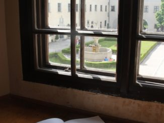 Cerveny Kamen Castle – through the window, May2016