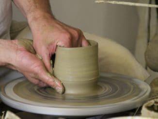 Pezinok – potter's wheel 2, May2016