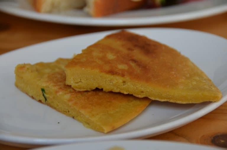 Garlic pancake in Slovakia