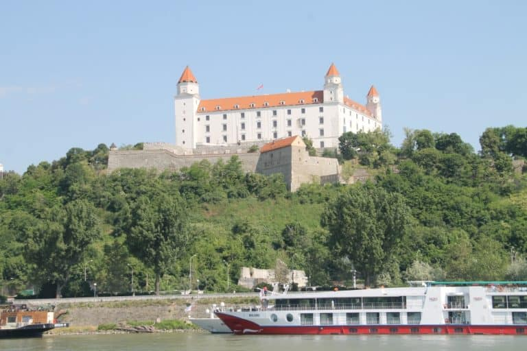 Journey by boat against the current of Danube
