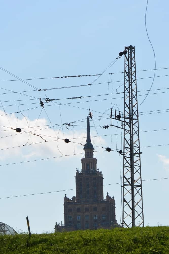 town – tower and cables, July2016 (Riga)