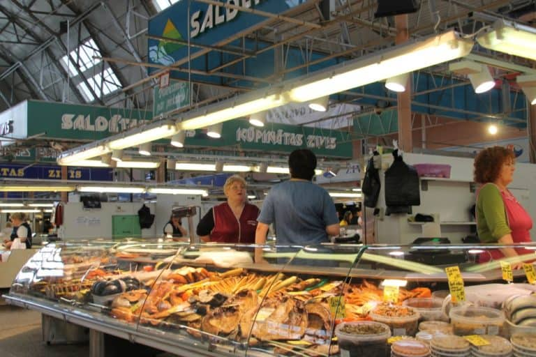 Central Market in Riga and surrounding area