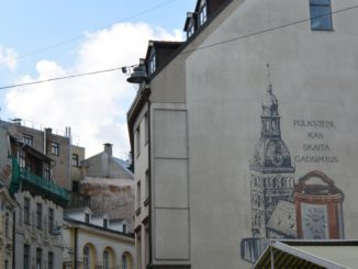 town – picture on the wall, July 2016