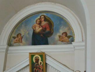 Our Lady of Sorrow Church – copy of Sistine Madonna, July2016