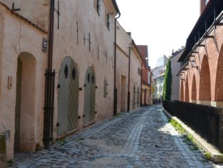 town – cobbled street, July 2016