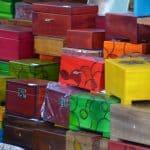 Poland, Gdansk - colourful boxes, Aug.2016