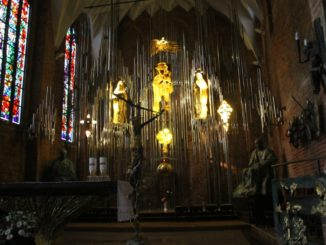 Altar made of amber