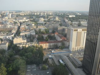 Poland, Warsaw – Marriott hotel, view 2, Aug.2016