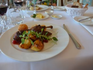 Poland, Warsaw – Rozana restaurant, duck dish, Aug.2016