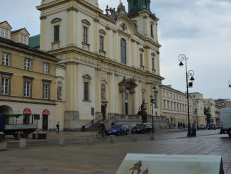 Poland, Warsaw – church and picture of Canaletto, Aug.2016