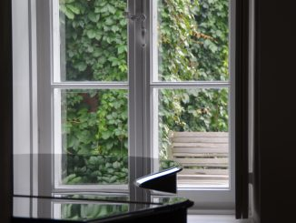 Poland, Warsaw suburbs  – Chopin's birth place, window, Aug.2016