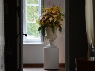 Poland, Warsaw suburbs  – Chopin's birth place, vase, Aug.2016