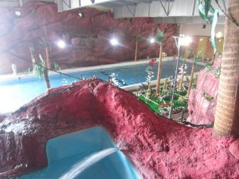 great fun in the indoor swimming pool