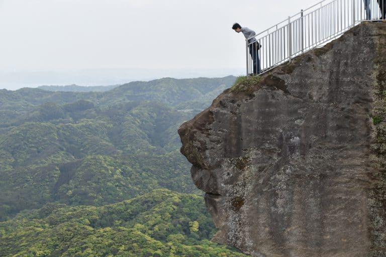 non abbiamo potuto vedere il panorama dell'inferno dal monte Nokogiri