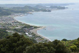Japan-Chiba-Mt. Nokogiri-view-sea-bay