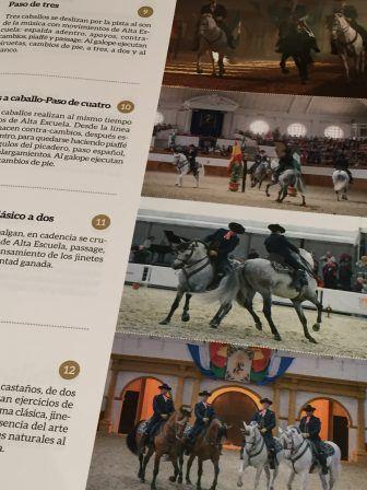 スペインで見た馬のバレエのパンフレットより