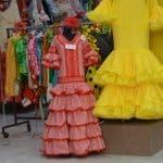 アンダルシアのフラメンコの衣装店