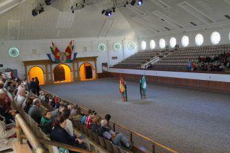 スペインのヘレス・デ・ラ・フロンテーラで馬のバレエを見せる会場
