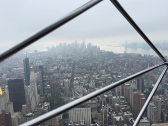 Empire State Building in the clouds