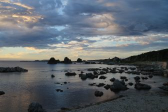 Sado Island, Nanaura – sunset view 1, Aug.2016