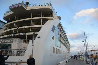 L'hotel nel super yacht a Gibilterra