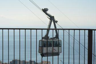 ジブラルタル、ザ・ロック-ロープウェイから 2016年11月