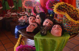 Maschere a Santa Fe in colombia